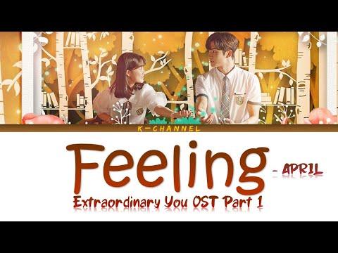 Download Feeling - APRIL 에이프릴 | Extraordinary You 어쩌다 발견한 하루 OST Part 1 | Han/Rom/가사/Eng/ CC Span/Thai Mp4 baru