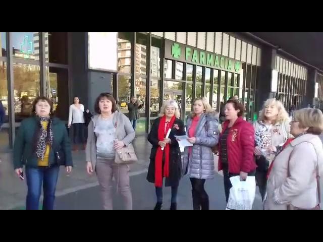 Картинки по запросу Флешмоб шагает по Европе: советские песни прозвучали в Барселоне