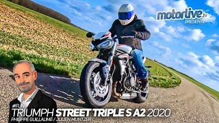 TRIUMPH STREET TRIPLE S A2 2020 : LA PLUS FUN POUR DEBUTER   TEST MOTORLIVE