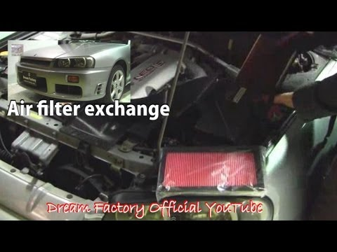 Air filter exchange☠Nissan Skyline@Dream Factory Official YouTube