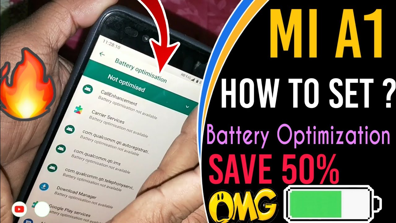 Mi A1, How To Set Battery Optimization? | Save Battery 50% Extra Every Day  | [ Hindi]