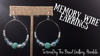 Memory Wire Earrings at The Bead Gallery