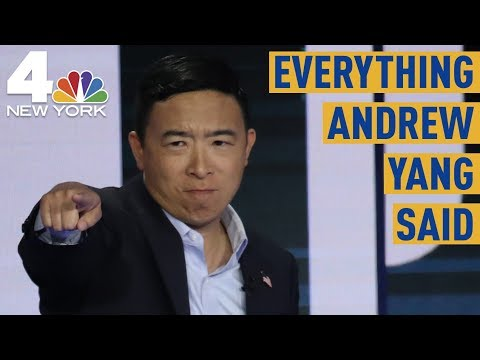Everything Andrew Yang Said at the Democratic Debate in Miami  NBC New York