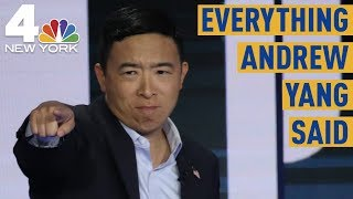 Everything Andrew Yang Said at the Democratic Debate in Miami | NBC New York