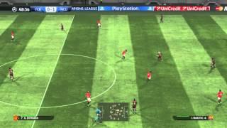PES 2015 - Barca vs ManUnited highlights-gameplay @60 fps