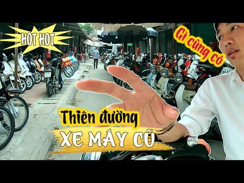 Thiên đường XE MÁY CŨ, Phố Chùa Hà – Old motorbike market in Hanoi