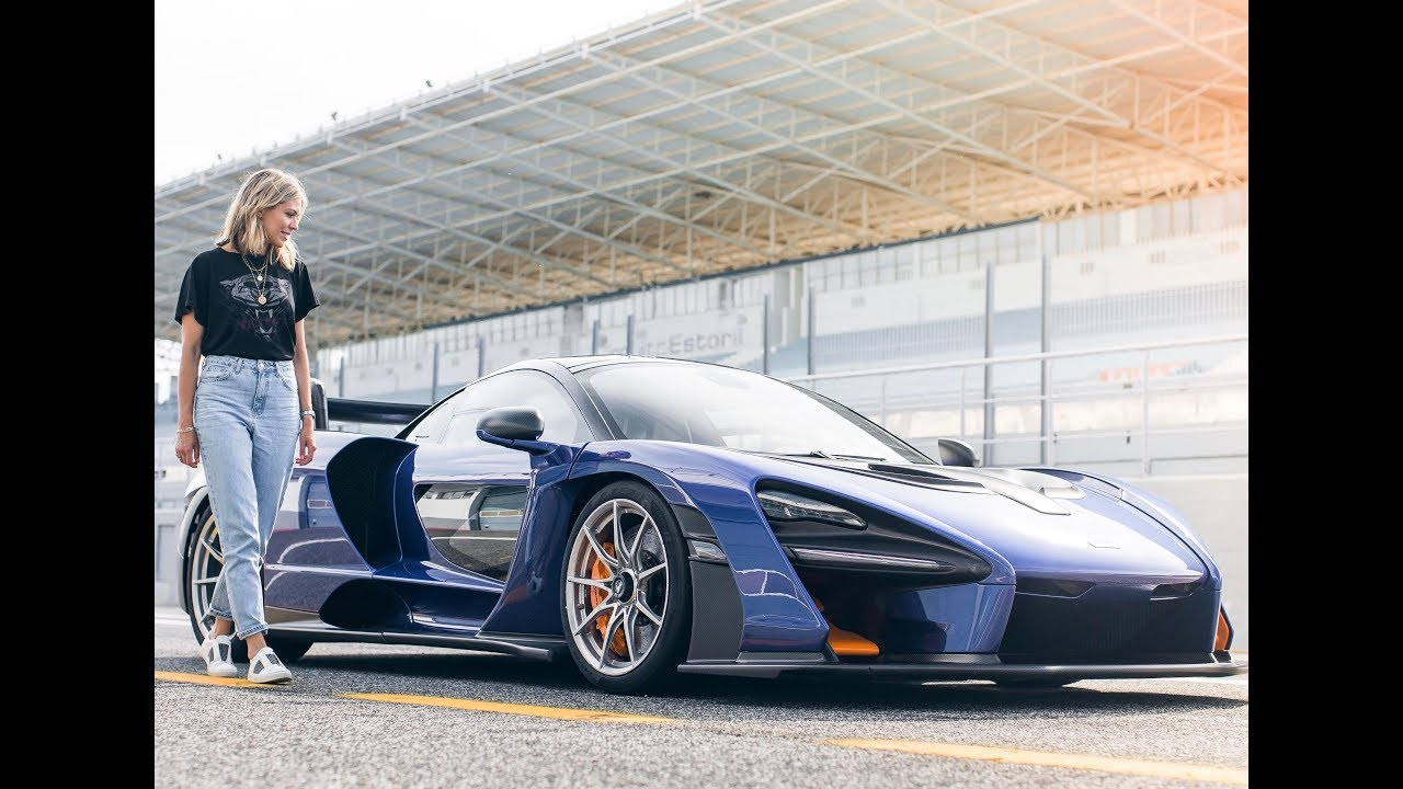 SHIELDS DRIVES THE MCLAREN SENNA