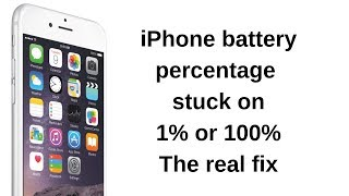 iPhone battery percentage stuck at 1% or 100%!Battery percentage jumping fix.