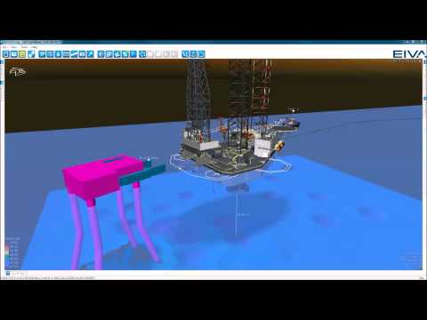 EIVA NaviSuite - Rig move and anchor handling - Online 3D visualisation of rig approach and jack-up