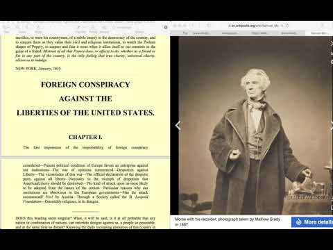 Foreign Conspiracy against the Liberties of the United States,Library of Congress,1835, Samuel Morse