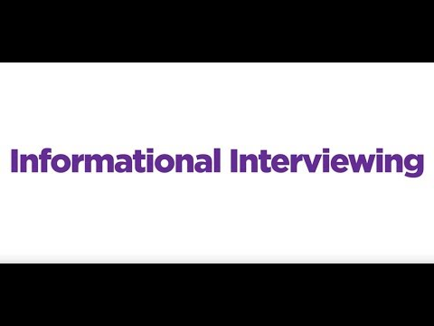 Informational Interviewing Tips - YouTube