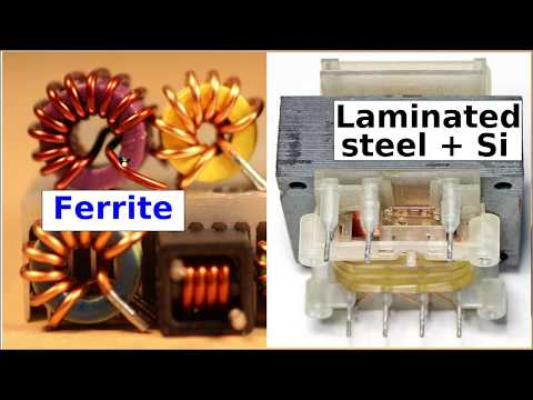 Howto repair switch mode power supplies #5: Magnetic core materials, ferrite vs steel