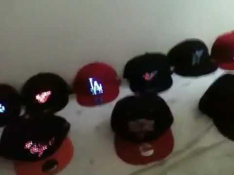 1d193936e5e New Era Hats Snap Back Light Up Fiber Optic - YouTube