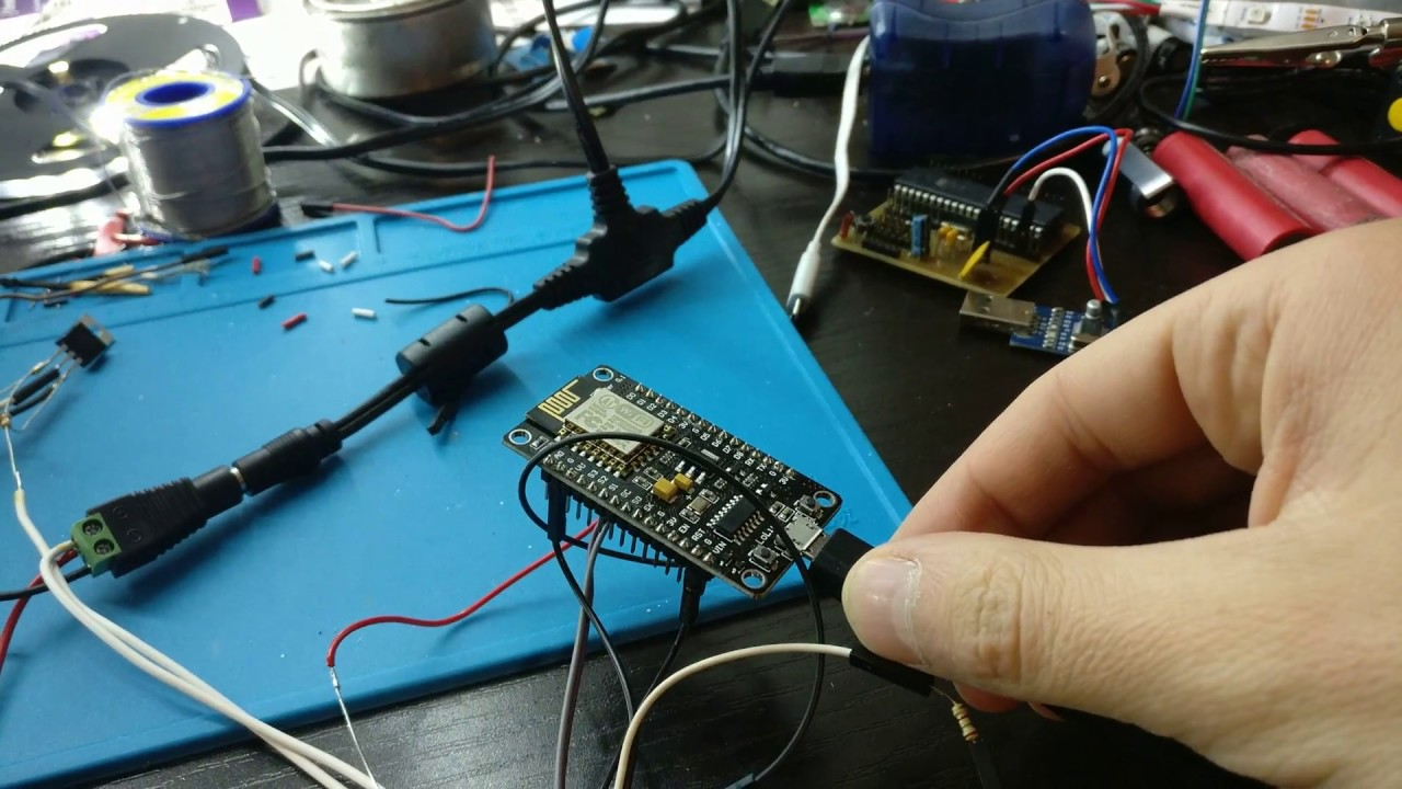 Wifi Controlled Led Strip Test1 Youtube Circuit Picture Sorry About The Messy Wiring