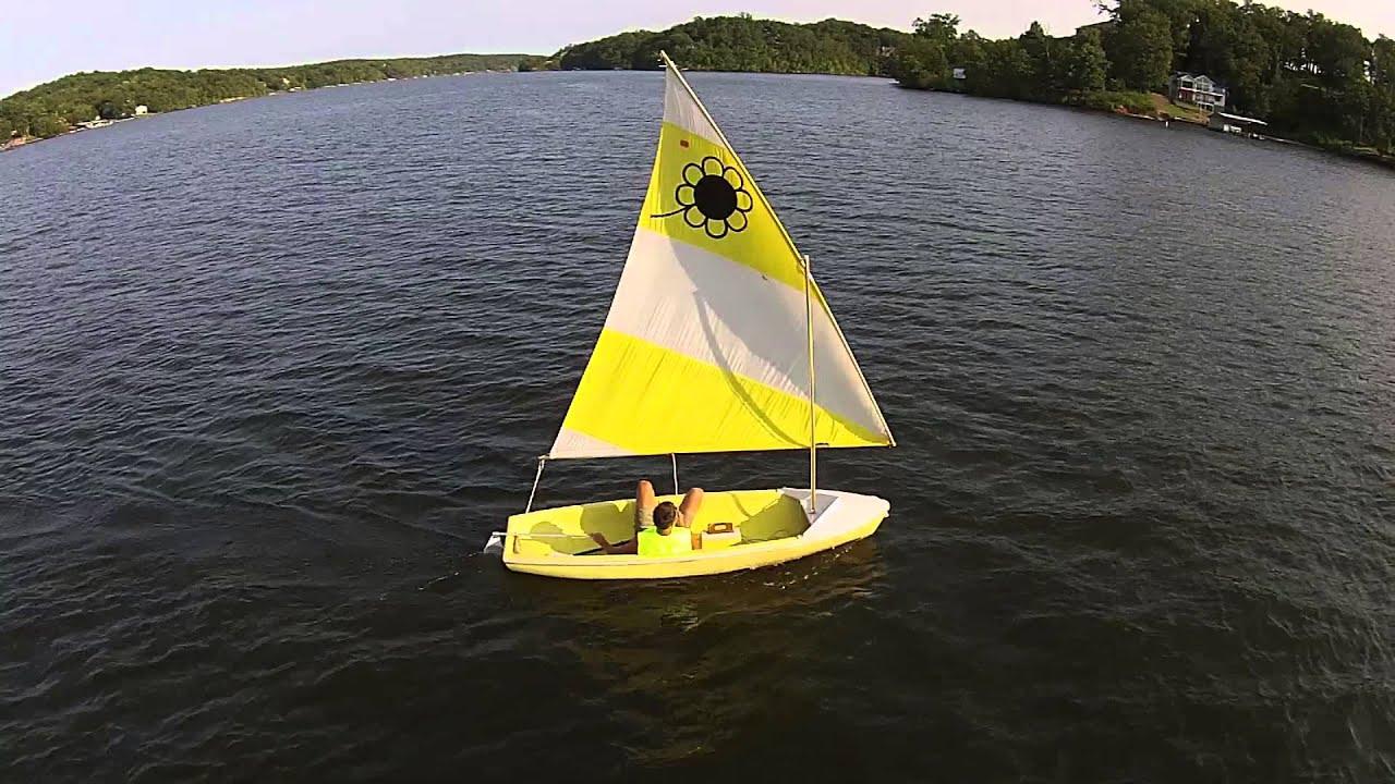 Sailing the Sunflower, Linn Creek Cove Lake of the Ozarks