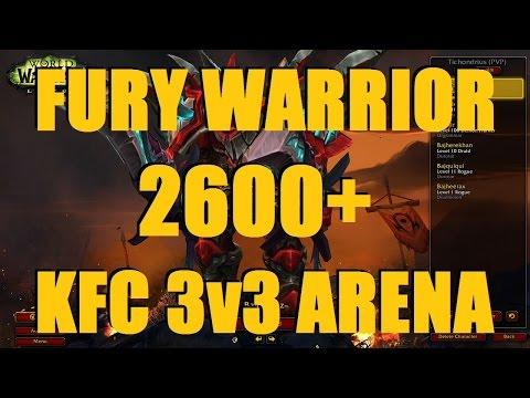 Bajheera - 2600+ Fury Warrior 3v3 as KFC w/ Ssds & Supatease (P2) - WoW Legion 7.1.5 PvP