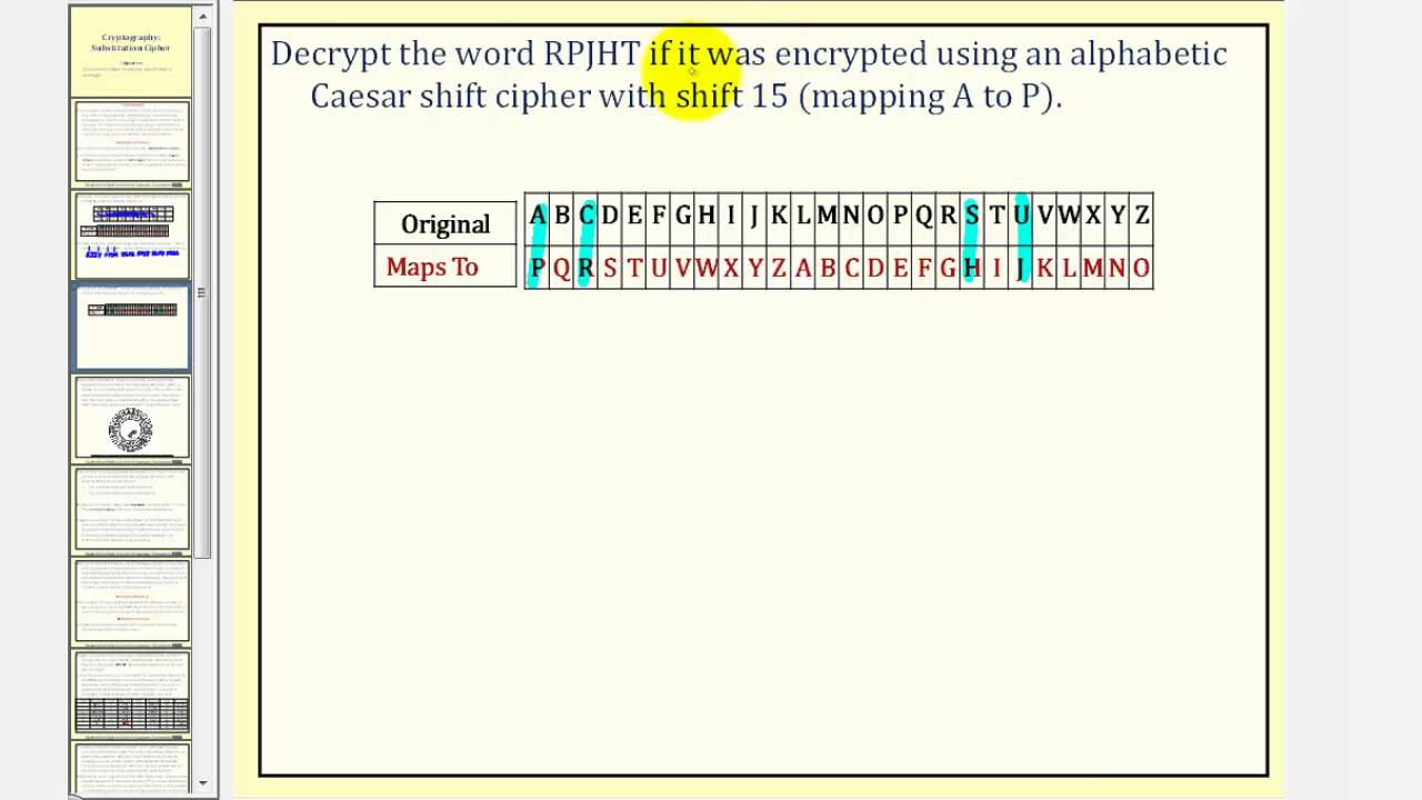 Cryptograph: Substitution Cipher (Caesar Cipher)