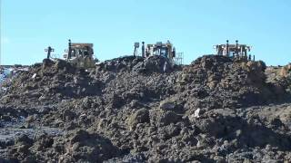 THE WALL OF DIRT!!! - Triple dozer push