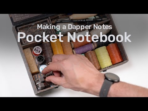 How to Make a Sewn, Fabric-Cover Pocket Notebook