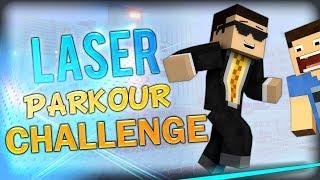 Minecraft: Laser Parkour Challenge w/ Double (AKA Minecraft Tripwire Parkour 2)