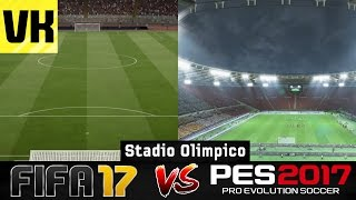 FIFA 17 VS PES 2017 STADIUM COMPARISON: Stadio Olimpico (Roma/Lazio) #4