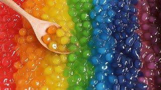 알록달록 무지개 타피오카 펄 만들기 Rainbow Tapioca Pearl Recipe