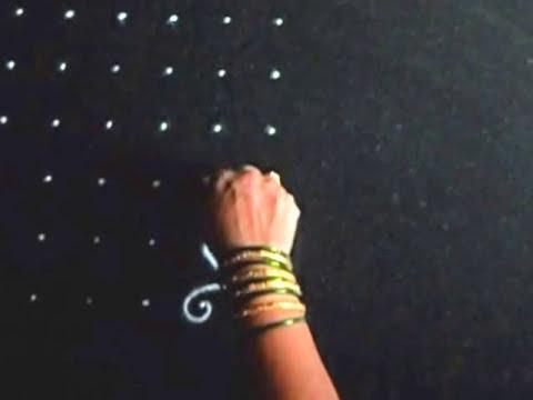simple rose kolam design 6 dots rangoli for diwali