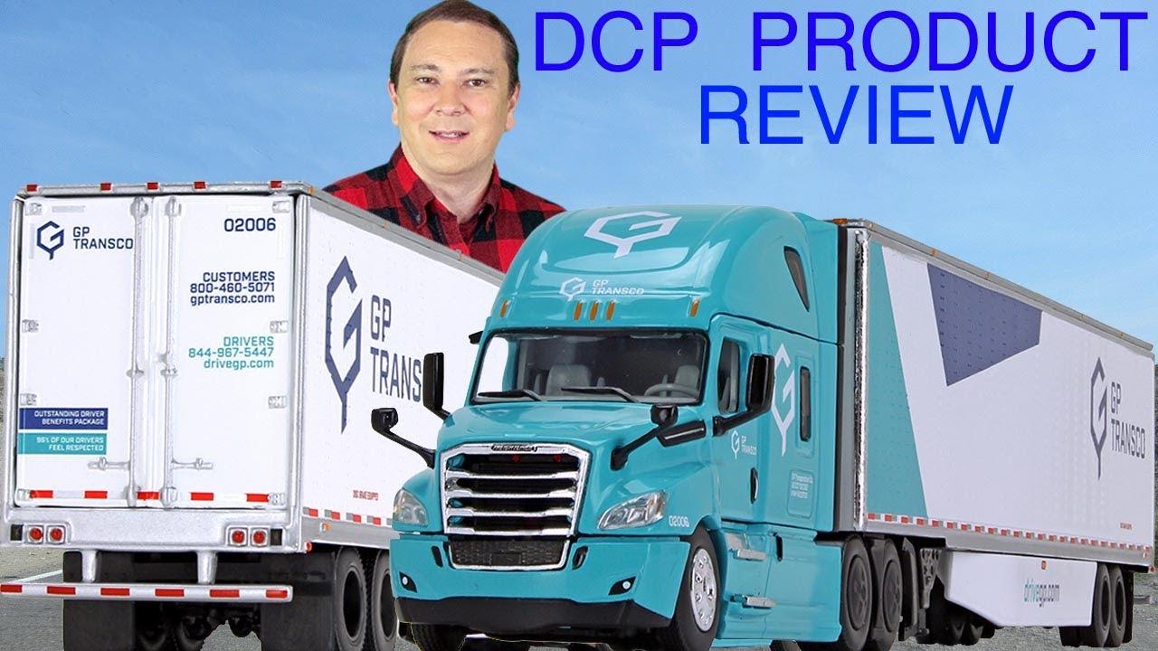 Dcp 1//64 Peterbilt Dry Van Semi Truck Tractor Trailer Mixed Set Farm Toy