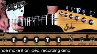Supro® Amplificador Guitarra Combo 1610RT Comet 6/14 Watt 1x10 Tubo video