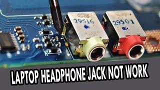 مدخل سماعات اللاب توب لا يعمل broken laptop headphone jack C850/L850