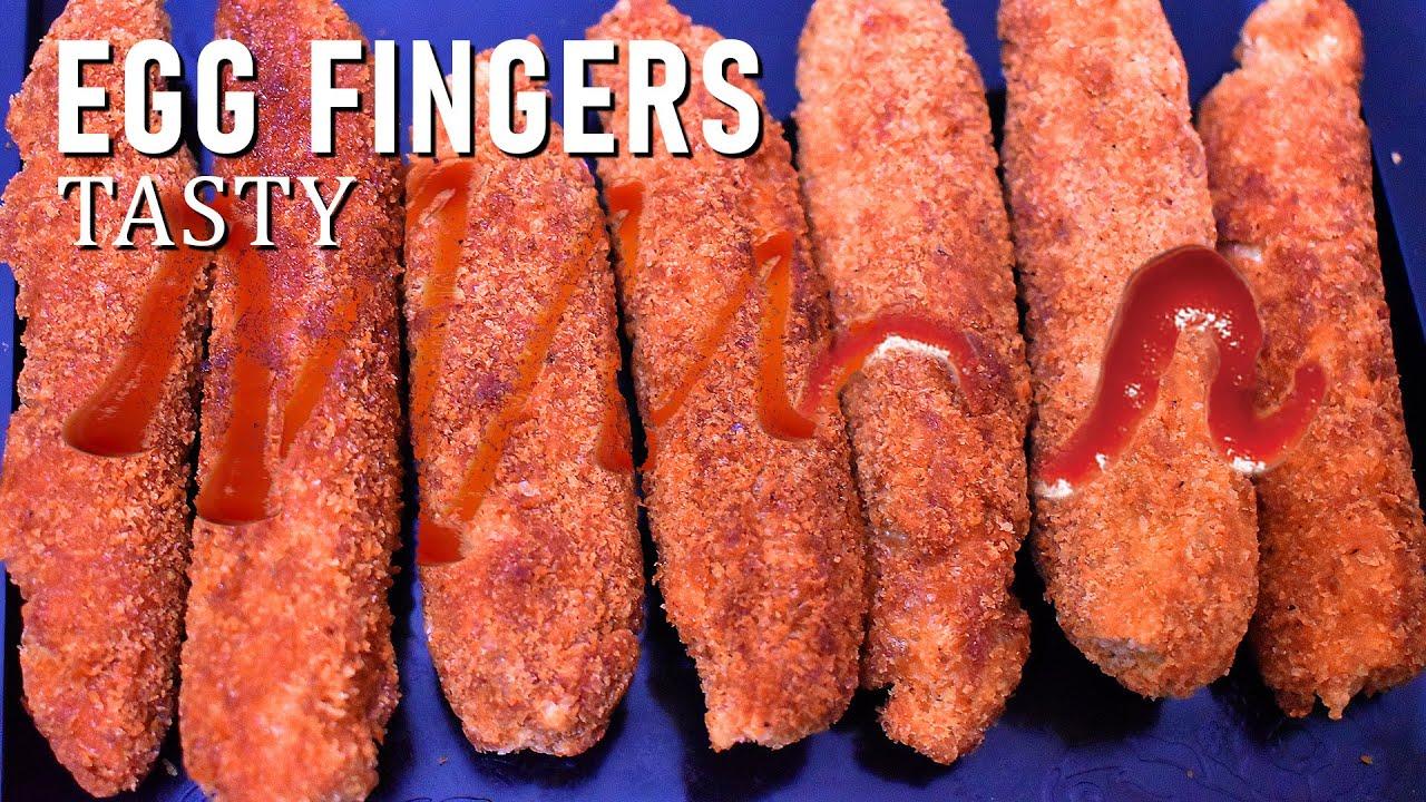 Crispy Egg Fingers ! Easy tea time snacks with less ingredients- Egg Fingers Recipe