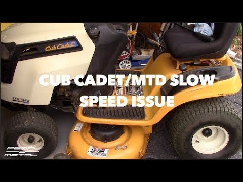 MTD Cub Cadet LTX 1040 Slow Speed Issue | What To Do | Belt Routing & Advice