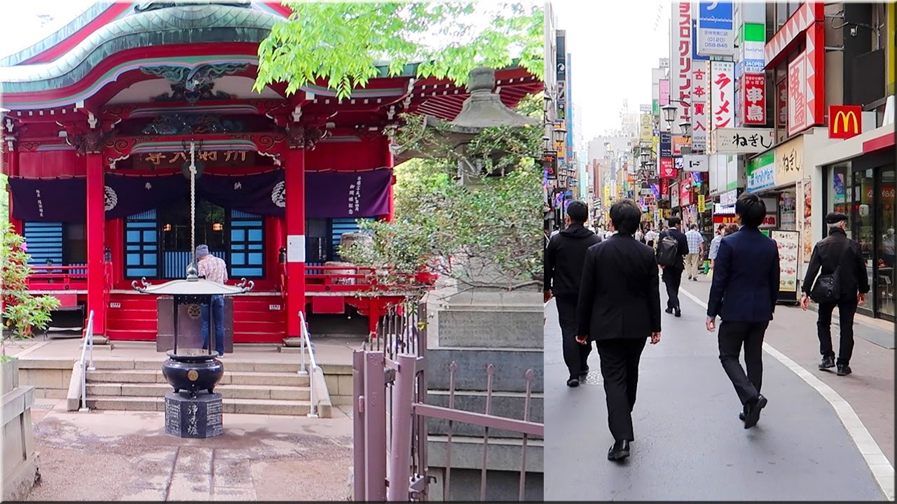 A Walk Around Kichijoji Station. Inokashira Onshi Park [Historical Site] - YouTube