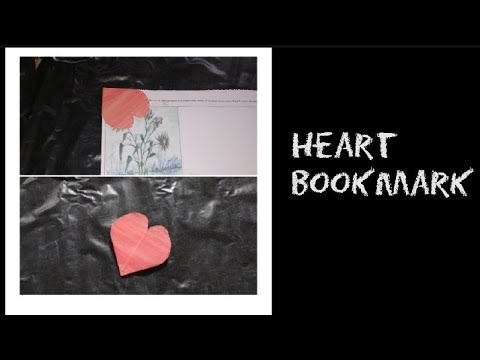 DIY Heart Bookmark Tutorial. How to make paper bookmark.Easy craft.