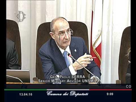 Roma - Fenomeno migratorio, audizione Generale Serra (13.04.16)