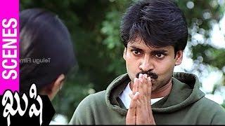 Pawan Kalyan Flirting With Bhumika | Kushi Movie | Ali | SJ Surya | Mani Sharma