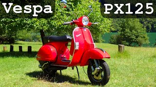 PIAGGIO New Vespa PX125 Overview Features Test Drive | Year 2016