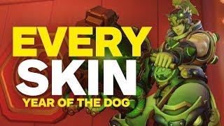 Overwatch: EVERY Year of the Dog Skin, Emote, Highlight Intro, and Victory Pose