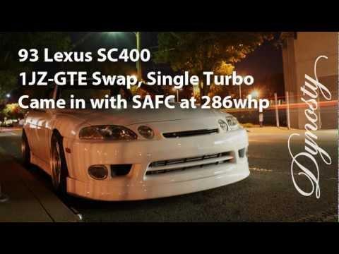 1JZGTE Turbo Lexus SC400 Dyno Pull 385whp
