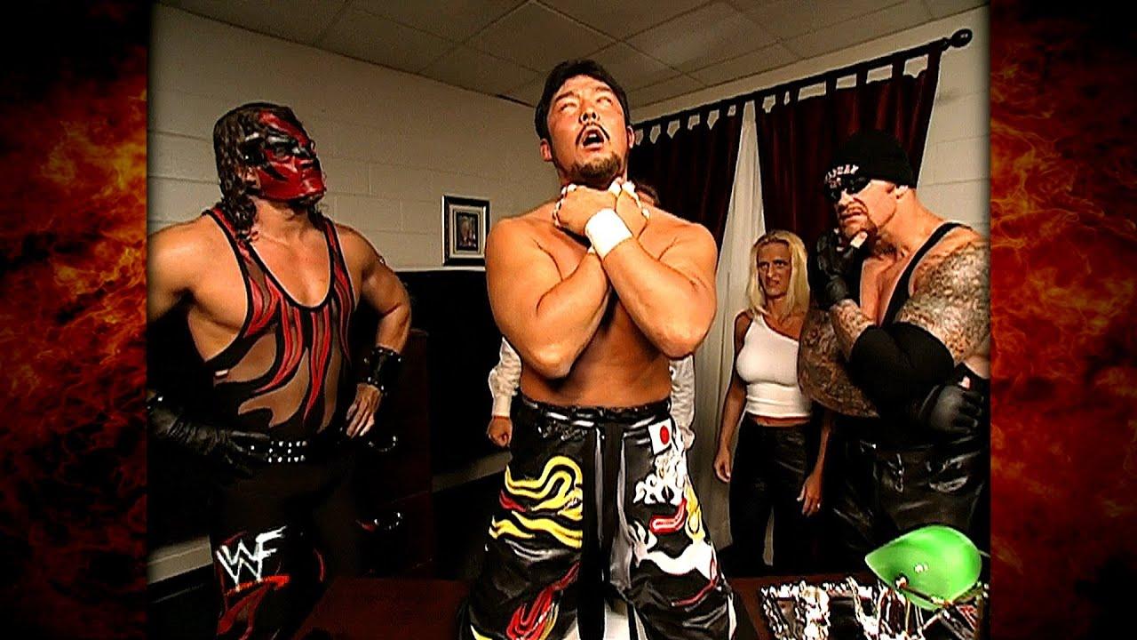 The Undertaker, Kane, Sara, William Regal & Tajiri Hilarious Backstage Segment 7/19/01