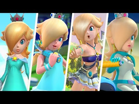 Evolution of Princess Rosalina in Super Mario Sports Games (2008 - 2018)