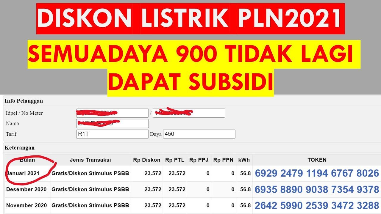 Cara Mendapatkan Diskon 50 Sampai 100 Subsidi Listrik 900 Va Januari 2020 Youtube