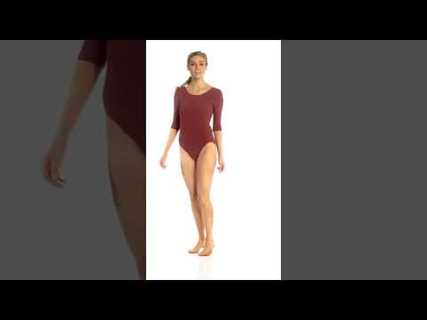5cd8a24c25 Danskin 3/4-Length Quilted Cotton-Blend Yoga & Dance Leotard |  SwimOutlet.com - YouTube