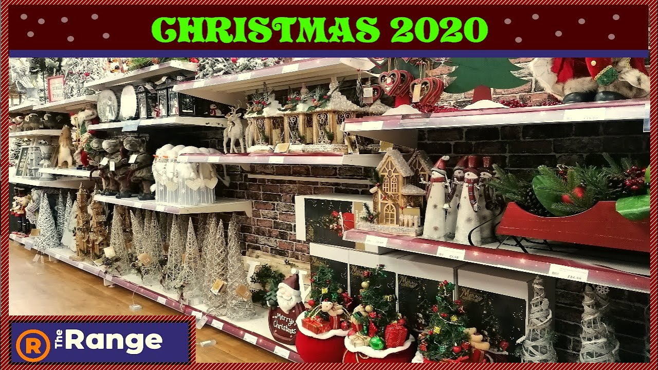 The Range Christmas Decorations 2020 Trees Baubles Lights Santa Frosty Crackers Card Gifts Youtube