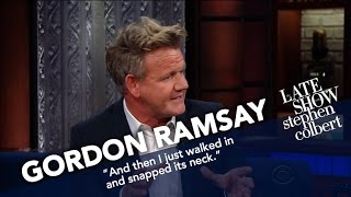 Gordon Ramsay Critiques Stephen's PB&J by : The Late Show with Stephen Colbert