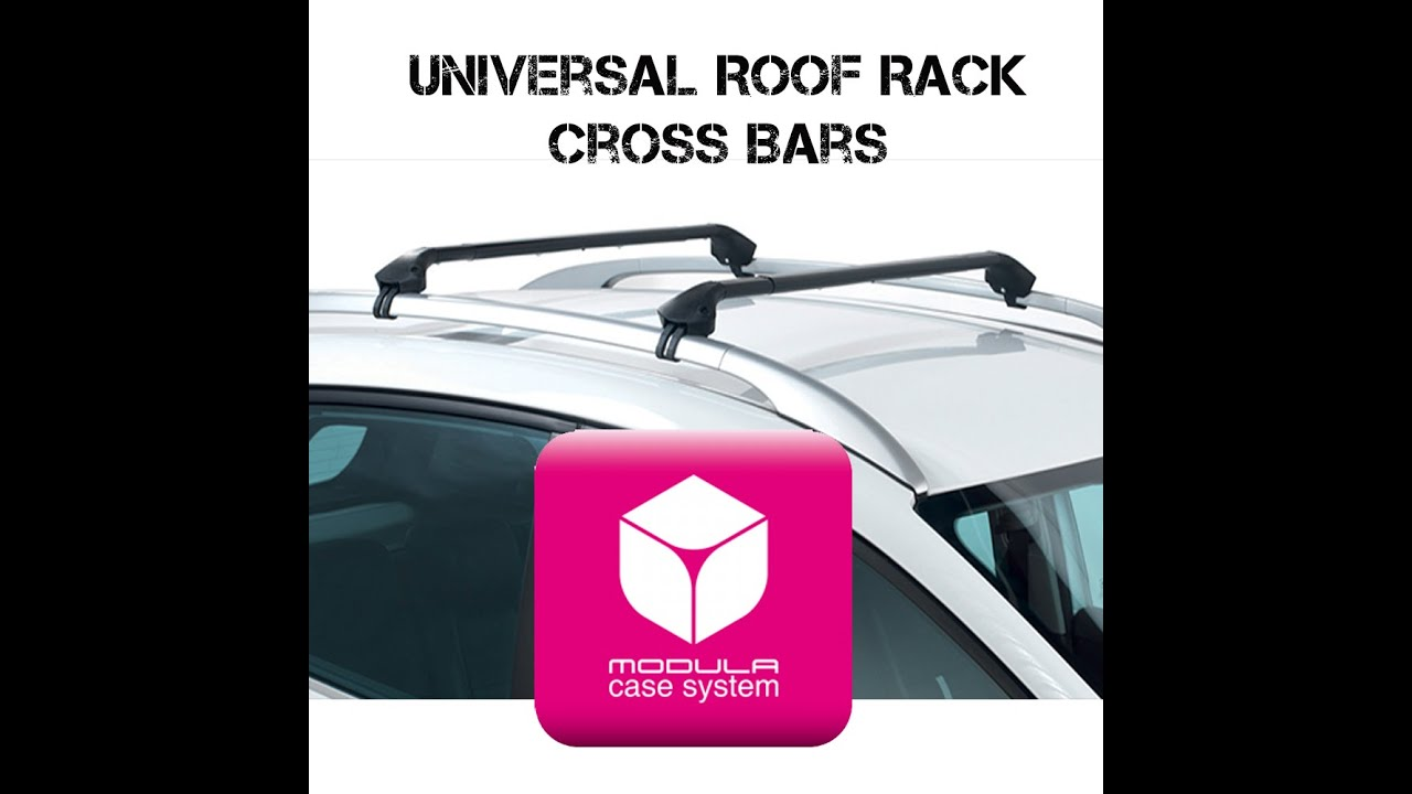 Modula Universal Fit Roof Rack Cross Bars For Flush Railings