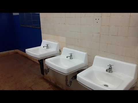Major Sheldon Wheeler Middle School Boy's Bathroom in Wahiawa, Hawaii.