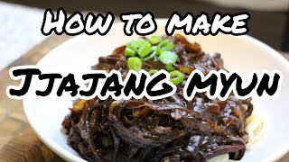 How to Make 10 Minute Jjajangmyeon (Noodles with Black Bean Sauce)
