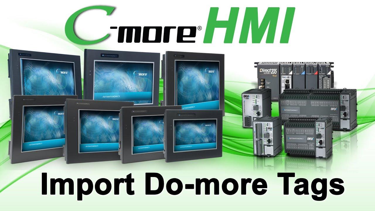 C-more HMI Setup: Import Do-more PLC Tags