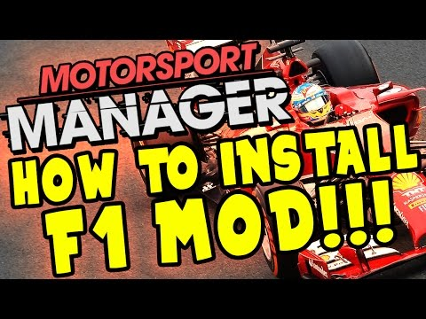 HOW TO INSTALL F1 MOD FOR MOTORSPORT MANAGER!